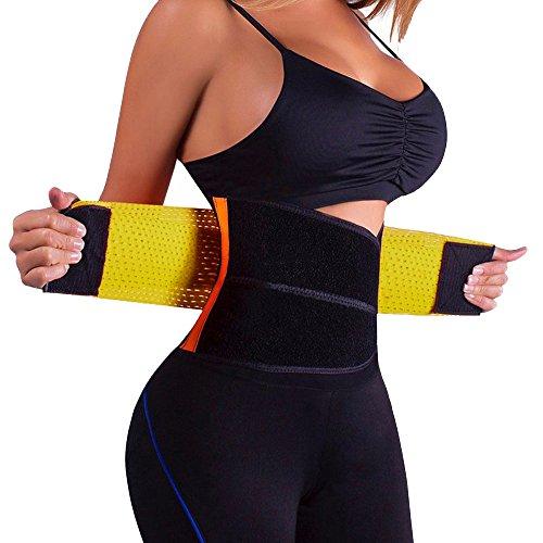 Caopixx Shapewear for Women Tummy Control Seamless Firm Slimming Burn Fat Tummy Slim Bodysuit Abdomen Belt Yellow