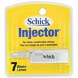 Schick Injector Razor Blade Refills, 7 Blades (Compatible with Schick Injector Razor)