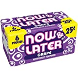 Now & Later Original Taffy Chews Candy, Grape Flavor, 0.93 Ounce Bar, Pack of 24