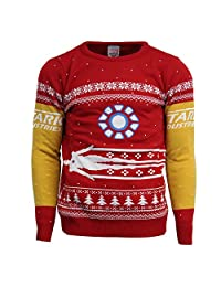 Numskull Official Marvel Iron Man Christmas Jumper/Ugly Sweater - UK M/US S