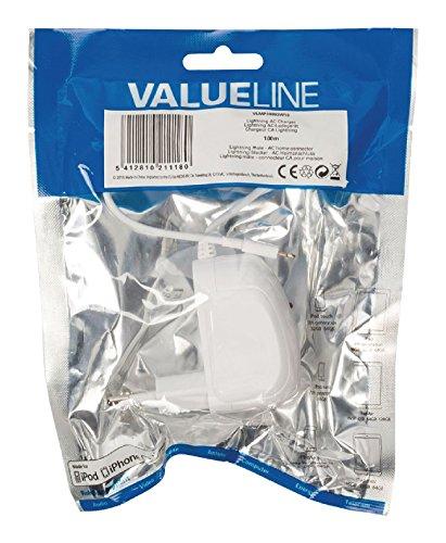 Valueline Lightning AC charger lightning Plug -AC home connector 1.00 m white [VLMP39893W10] (1.00 Plug)