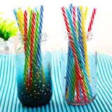 work on me the brown singers - UNAKIM--10Pc Colorful Reusable Hard Plastic Stripe Drinking Straw Clean Separate Packing