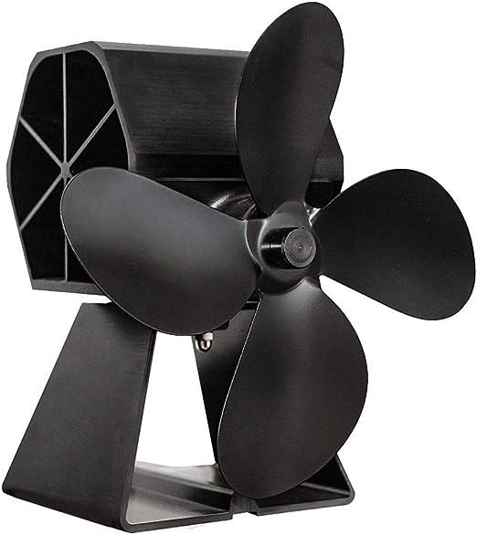 LULUVicky-Home Ventilador para Chimenea 4-Blade Estufa de Calor ...