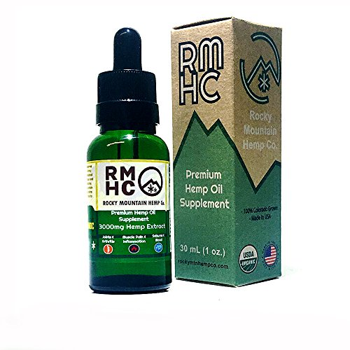 Rocky Mountain Hemp Co : Premium Full Spectrum Hemp Oil for Pain Relief : Sleep Aid :: Supports Stress, Anti Anxiety: Herbal Health Supplement Drops : Rich in Omega 3 6 9 (Natural, 3000) (Rocky Mountain Hemp Co Premium Organic Hemp Oil)