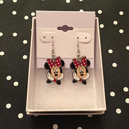 Earrings Dangle Disney (Disney Inspired Minnie Mouse Dangle Earrings)