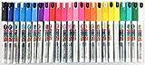 Uni Do! Posca Paint Marker Pen, Extra Fine Point(PC-1MD), 24 Colors Set with Original Vinyl Pen Case