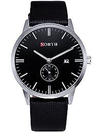 Men Watch,Business /Sport/Fashion Waterproof Watches for Men,Black Leather Quartz Wrist Watch on Sale