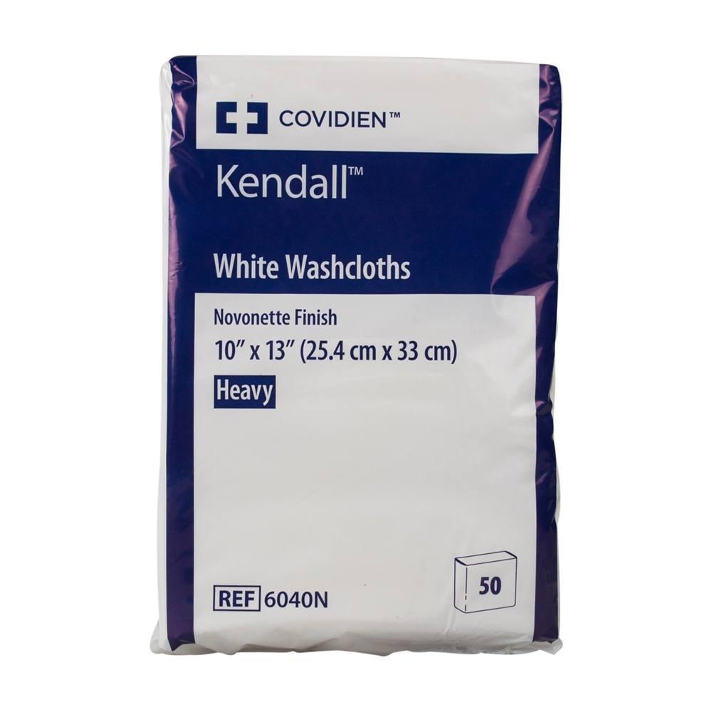 Kendall White Washcloth 10'' x 13'' (Case of 600)