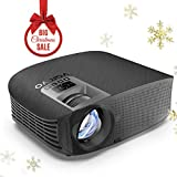 "Led Projector, vamvo 200"" LCD Home Theater Video Projector Support 1080P HDMI VGA"