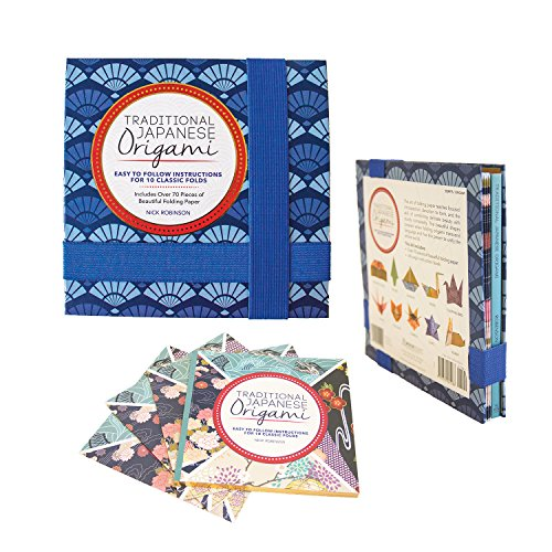 Traditional Japanese Origami Kit: Easy to Follow Instructions for 10 Classic Folds - Includes Over 70 Pieces of Beautiful Folding Paper Paperback – June 19, 2015