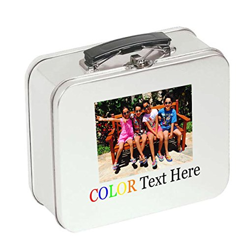 Custom Personalized Printed in Fulll Color DIY Lunch Box Tin - Your Custom Text and Photo Here