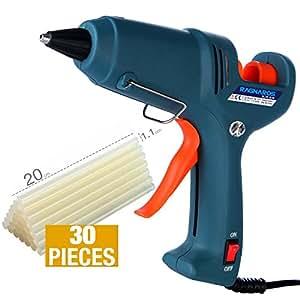 Hot Glue Gun kits -- RAGNAROS 60 Watt best Hot Melt Glue Gun- High-Tech Electronic PTC heating technology For Arts & Crafts, & Sealing and Quick Repairs,Green (30 hot glue gun sticks INCLUDED)