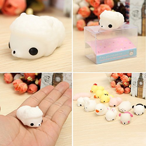 1 Piece Sheep Squishy Squeeze Cute Healing Toy 4x3x2.5cm Kawaii Collection Stress Reliever Gift - Dollar Free Mall 10 Shipping