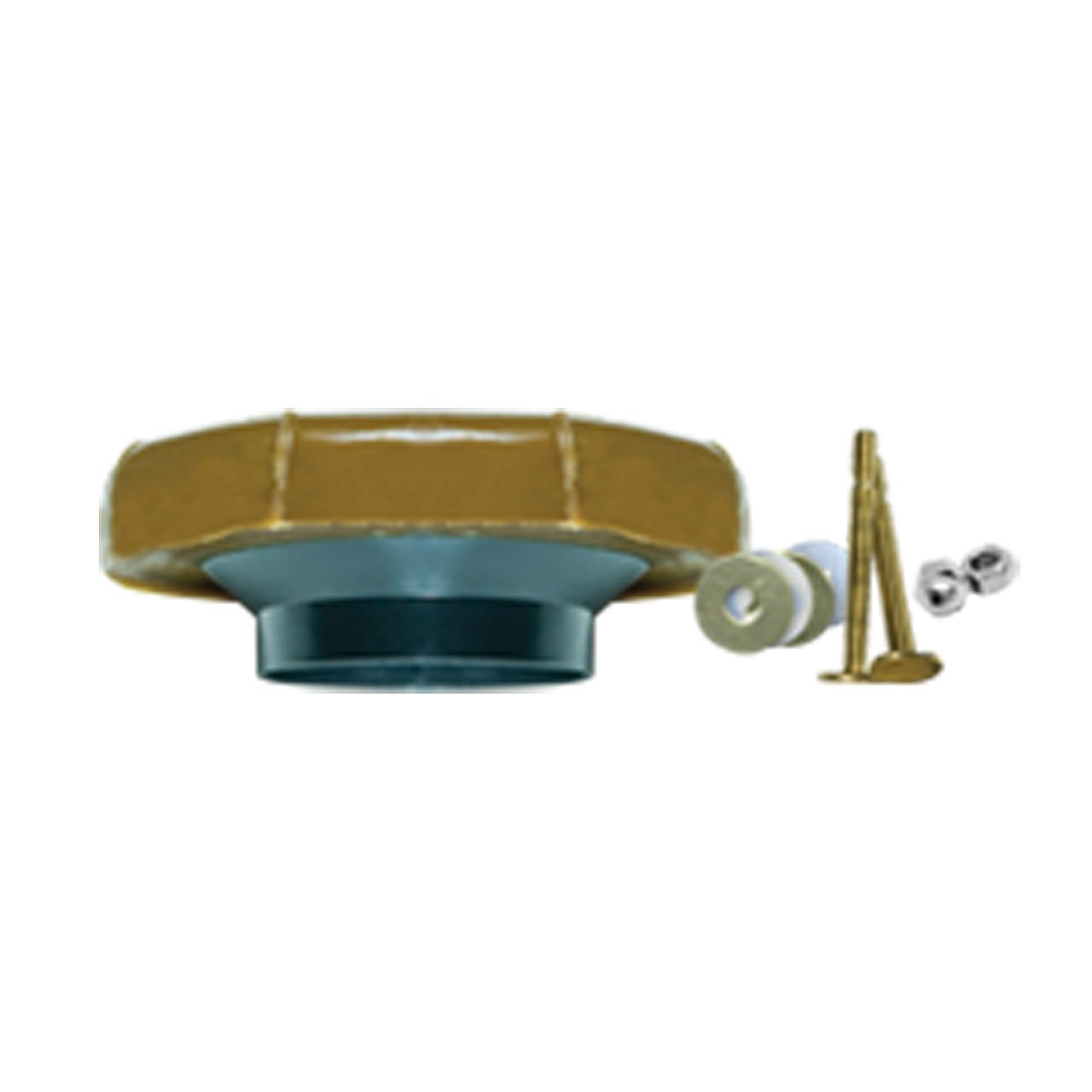 Fluidmaster 7512 Toilet Wax Ring Kit With Flange And Bolts, For Use With 3 In And 4 In Waste Lines, Plastic