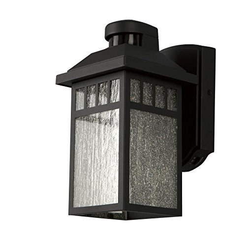 Portfolio 11.5-in H Black Motion Activated Outdoor Wall Light - - Amazon.com