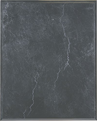 Solid Genuine Black Marble Plaque, 8 by 10-inch (Solid Marble)
