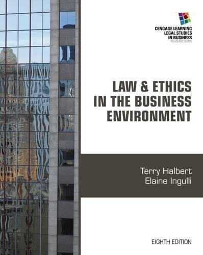 Law+Ethics In Business Environment