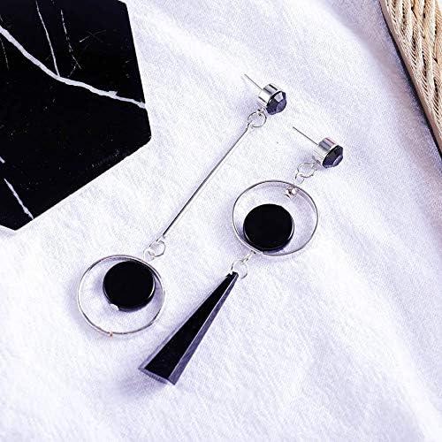 argent Version cor/éenne simple mode nouvelles boucles doreilles asym/étriques femmes longue oreille g/éom/étrique transfrontali/ère ongles or argent