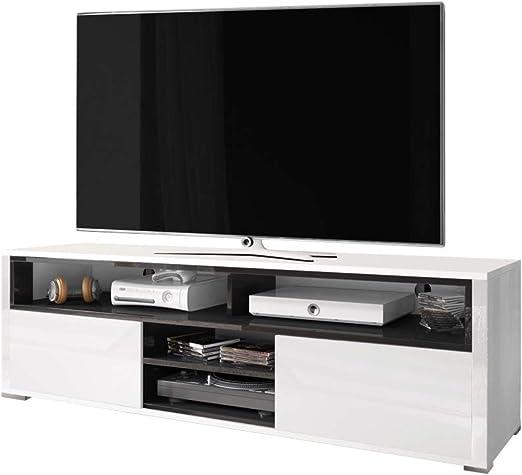 Selsey - Mueble para televisor (137 x 33 x 42,5 cm), Color Blanco y Negro: Amazon.es: Hogar