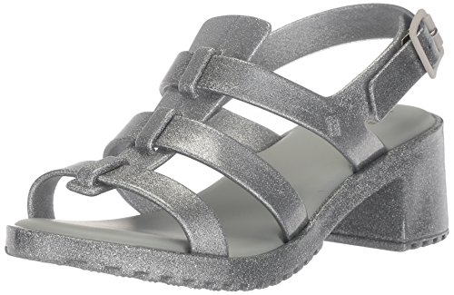 - Mini Melissa Girls' Mel Flox HIGH Heeled Sandal, Silver Glitter, 13 Regular US Little Kid