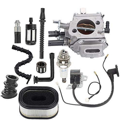(Hayskill MS640 Carburetor w Air Filter Fuel Tune Up Kit for STIHL MS650 MS660 064 066 Chainsaw Walbro WJ-67A WJ-76A Zama C3A-S31 Carb Replace 1122 120 0623 1122 120 0621 )