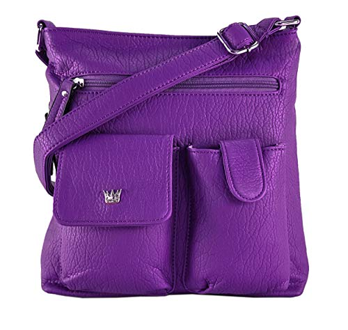 Purse King Colt Concealed Carry Handbag (Purple)