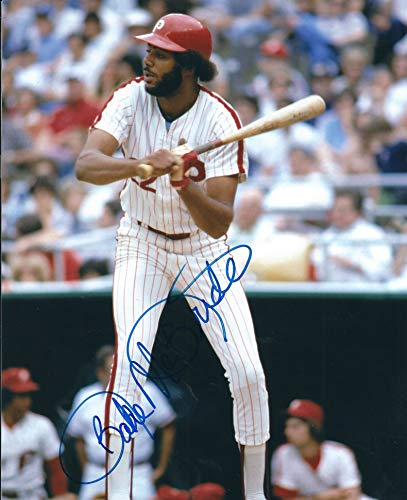 Autographed Bake McBride 8X10 Photo Philadelphia Phillies ()