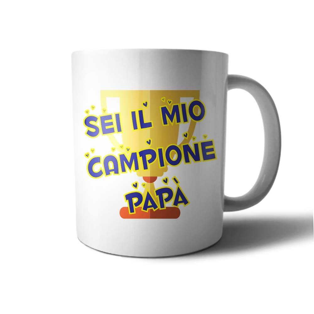 Tazza idea regalo festa del Papa' Sei il mio Campione Papa' Babloo