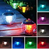 ECBUY Outdoor Solar Waterproof Color Changing LED Floating Lights Ball Pond Path Landscape Lamp ball for Swimming Pool,Garden and Party Decor Outdoor Waterproof Pond Path Landscape lights