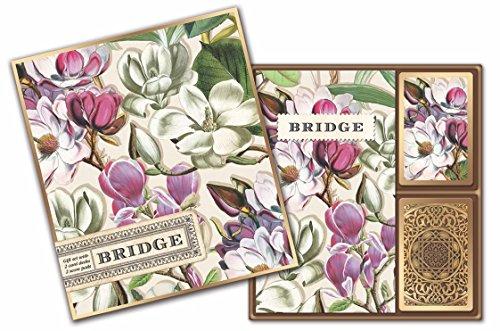 Michel Design Works Bridge Cards Gift Set, Magnolia