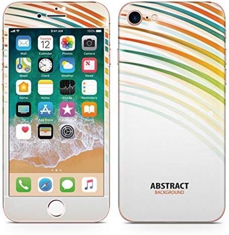 igsticker iPhone SE 2020 iPhone8 iPhone7 専用 スキンシール 全面スキンシール フル 背面 側面 正面 液晶 ステッカー 保護シール 007990 ユニーク 虹 レインボー カラフル きらきら