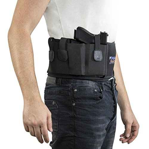 : Top Gun Retention Belly Band Holster: Keep Your Pistol Concealed, Glock 43 42, , Sig Sauer, Beretta, Ruger, Springfield, Kimber, Taurus, Rock Island, Bersa, Walther, Kahr