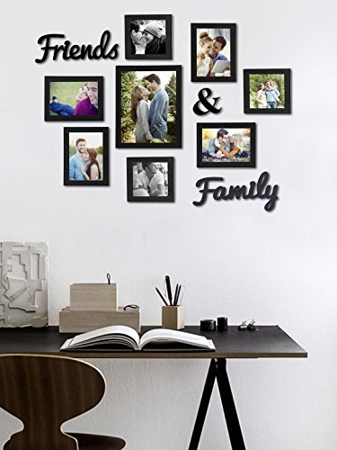 Street Art Friends and Family Wall Photo Frame - Set of 8 Individual Wall Photo with MDF -