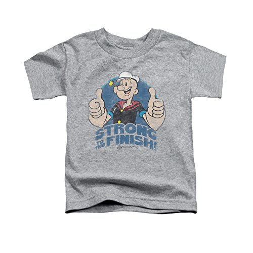 Vintage POPEYE/TO THE FINISH-S/S TODDLER TEE-ATHLETIC HEATHER-MD(3T) Quality desiqn