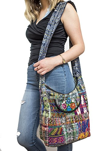 Embroidered Laptop Bags - Boho Sling Embroided Hobo Messanger Medium Bag Women Handmaid Quilted Hippie Crossbody Unique Purse Sporty Laptop