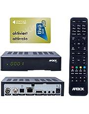 Apebox C2 4K UHD 2160p Combo satellietkabel DVB-S2X & DVB-T2/C multistream receiver geschikt voor Tivusat mediaset IPTV mediaset ontvanger met actieve TIVUSAT kaart