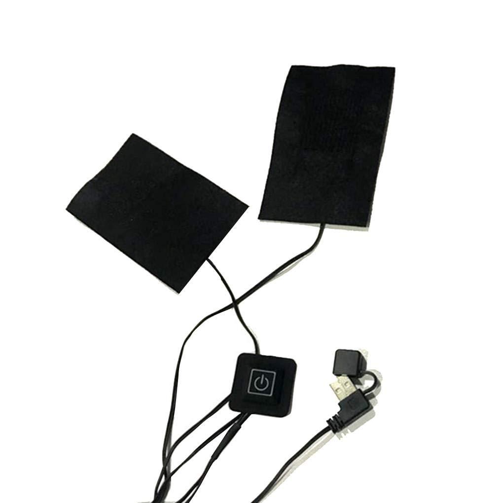 Acquisto Jinzuke 2 in 1 o 5 in 1 Giacche USB elettrici Vestiti del Rilievo di Riscaldamento Maglia di Inverno riscaldata Warmer Pad riscaldatore della Fibra Prezzi offerte
