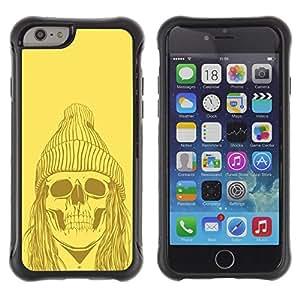 Paccase / Suave TPU GEL Caso Carcasa de Protección Funda para - Skull Zombie Dead Man Face Ghost Art Drawing - Apple Iphone 6