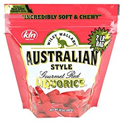Wiley Wallaby Australian Gourmet Style Red Licorice Candy 32 Oz. 2 Lb