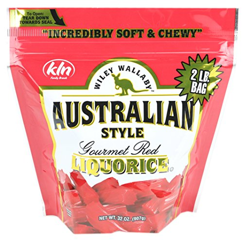 Banana Licorice - Wiley Wallaby Australian Gourmet Style Red Licorice Candy 32 Oz. 2 LB (Original Version)
