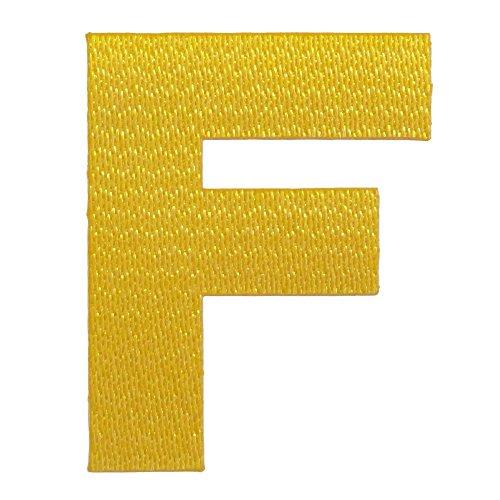 アルファベットワッペン 5cm イエロー F(エフ)の商品画像