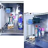Protenrop 2605093 - Módulo para utensilios de limpieza, color plateado