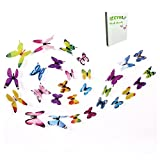 3D Butterfly Wall Stickers By CYWLife, 60PCS 5 Colors Wall Decals in Elegant Packing Box, Popular New Design New Pattern Colorful butterflies Wall Art, Best For DIYER Home Wall Decor, Mural Crafts
