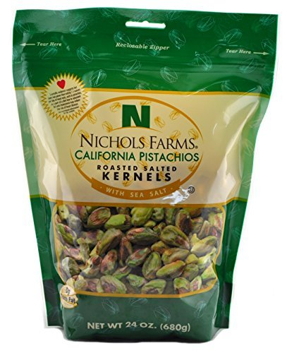 Nichols Farms California Pistachios Roasted Salted Kernels