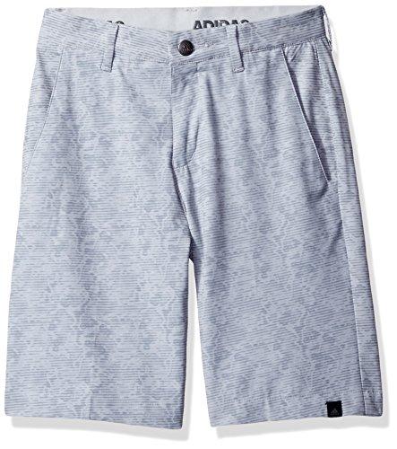 adidas Golf Boys Ultimate Camo Shorts, Mid Grey/Vista Grey, (Taylormade Childrens Clothing)
