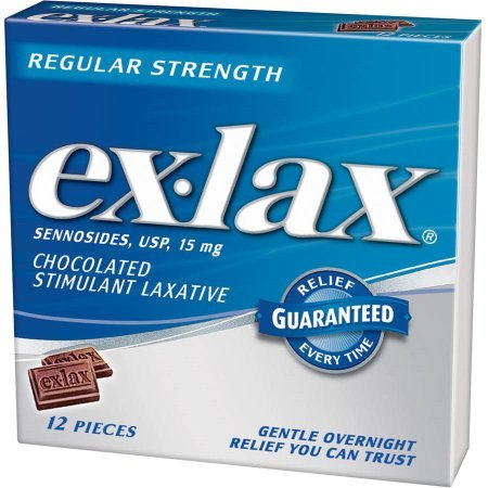 Ex-Lax Pieces Chocolate, 12 Ct (Pack of -