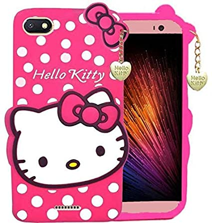 promo code a5c03 1af9a ORC Redmi 6A Soft Silicone Hello Kitty Cartoon Cat Printed Back Cover for  Xiaomi Redmi 6A (Pink)
