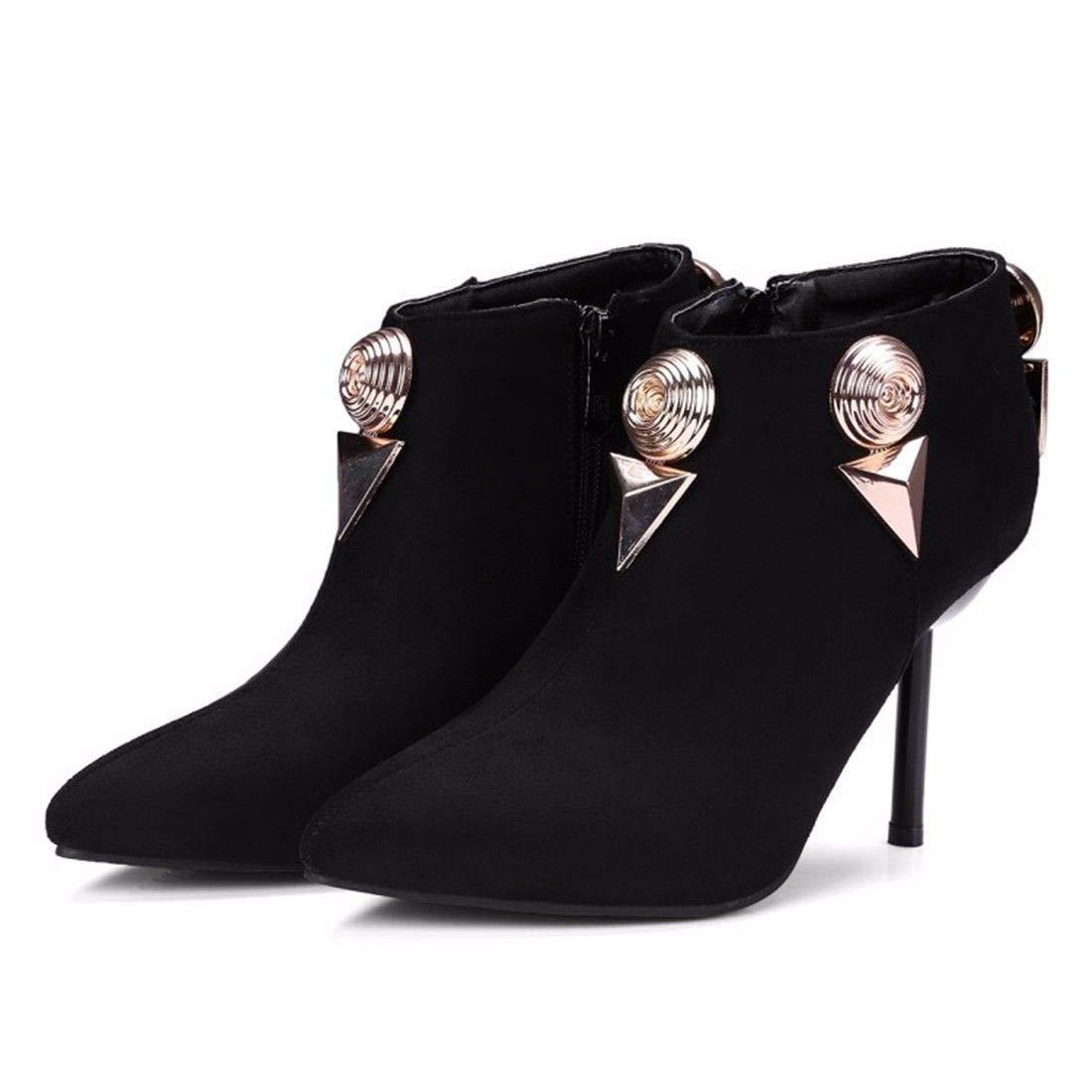 AIKAKA Frauen Herbst und Winter Europa Europa Europa und Amerika Sexy warme High Heel Schuhe Kurze Stiefel  b82a76