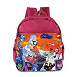 Kids Futurama School Backpack Cute Baby Boys Girls School Bags Pink