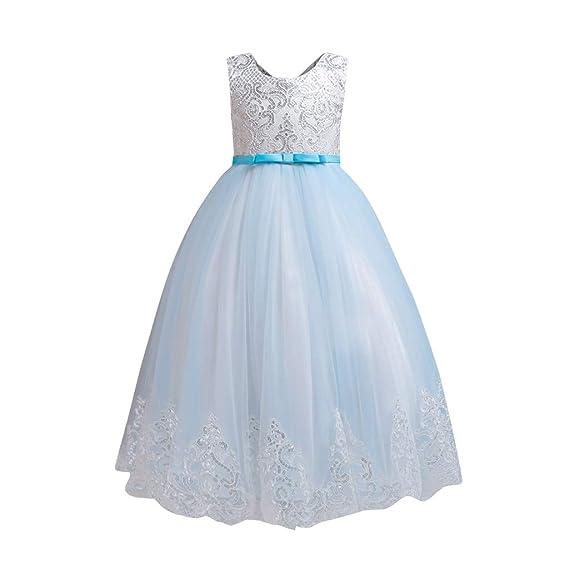 Baiomawzh Vestido de niña de Flores Sin Mangas Falda Disfraz ...
